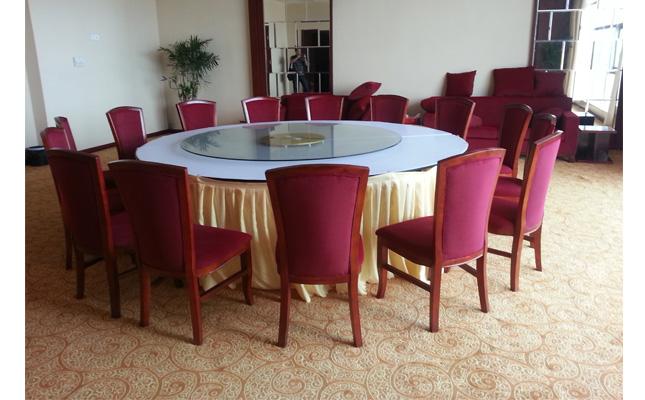 美高办公家具工程案例实景照片 员工食堂[食堂餐桌椅]