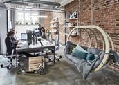 阳光绿色笼罩的办公室 让你活力值加满