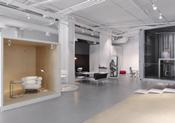 用集装箱把展厅变成办公家具的码头~