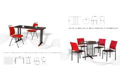 快餐桌椅MG-KC08