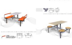 快餐桌椅MG-KC13