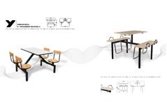 快餐桌椅MG-KC16