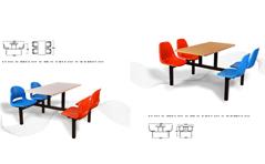 快餐桌椅MG-KC17